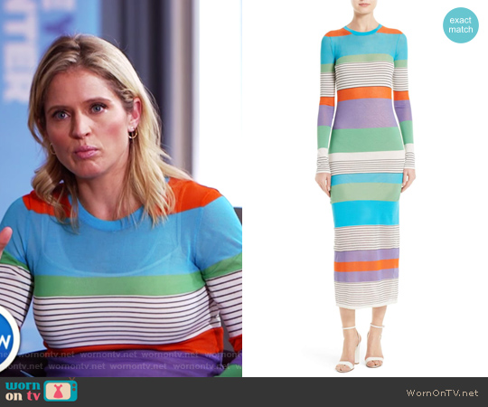 Colorblock Knit Midi Dress by Diane von Furstenberg worn by Sara Haines on The View