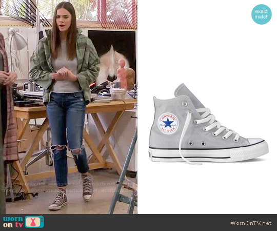 Converse Chuck Taylor High Top Sneakers worn by Callie Jacob on The Fosters