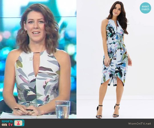 Tupai Drape Dress by Cooper St worn by Gorgi Coghlan  on The Project