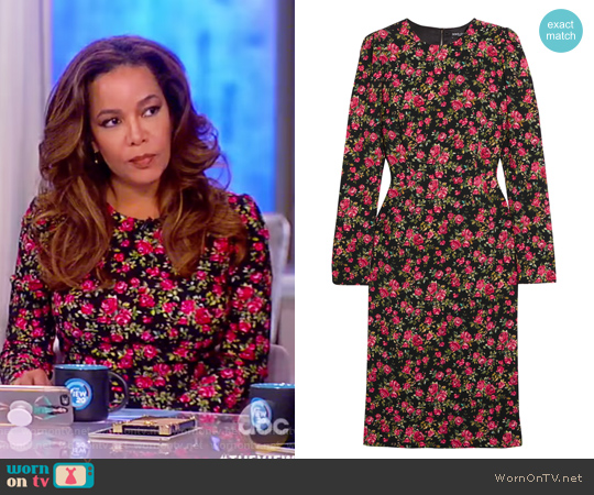 Roseline Floral-print Crepe Midi Dress by Dolce and Gabbana worn by Sunny Hostin  on The View