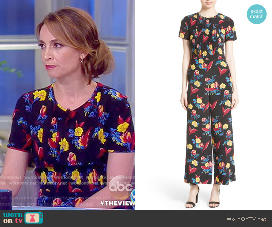 Floral Crop Silk Jumpsuit by Diane von Furstenberg worn by Jedediah Bila on The View