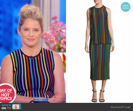Sleeveless Two Tiered Knit Shift Dress by Diane von Furstenberg worn by Sara Haines on The View