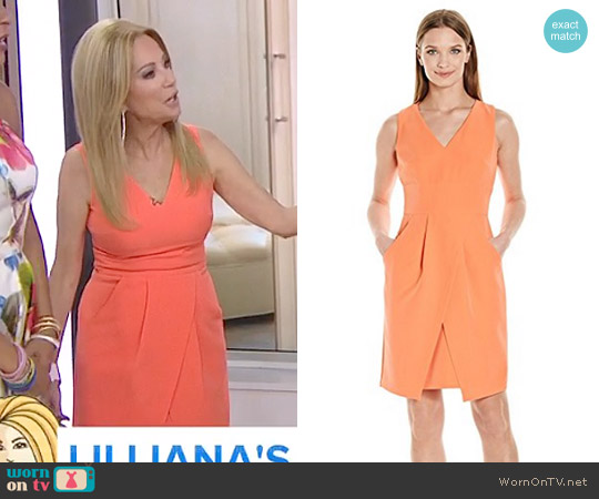 Tulip Hem Sleeveless Crepe Dress by Donna Morgan worn by Kathie Lee Gifford  on Today