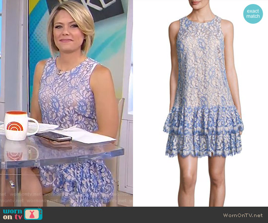 Tiered Lace Dress by Eliza J worn by Dylan Dreyer on Today