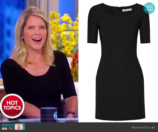 Aiden stretch-ponte mini dress by Elizabeth and James worn by Sara Haines on The View
