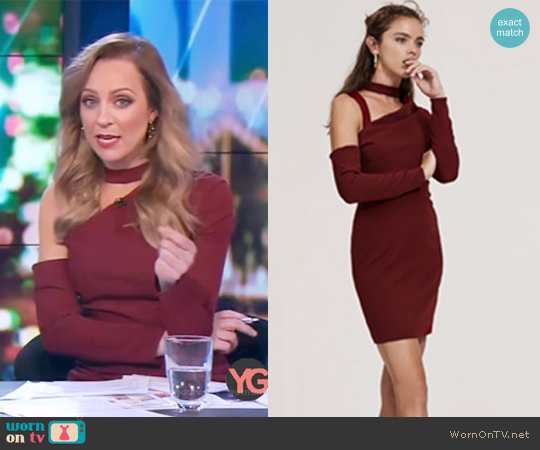 The Message Mini Dress by Finders Keepers worn by Carrie Bickmore  on The Project