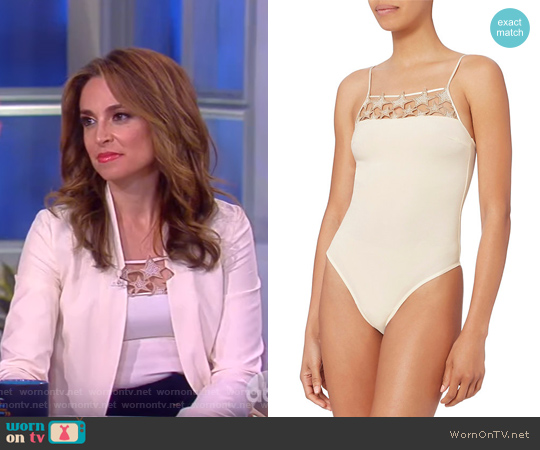 Star Inset Bodysuit by Fleur Du Mal worn by Jedediah Bila on The View