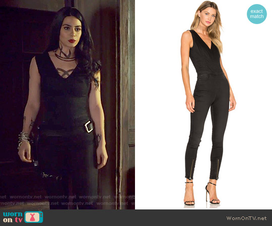 Lynn Zip Grip Sleeveless Jumpsuit by G-Star Raw worn by Emeraude Toubia  on Shadowhunters
