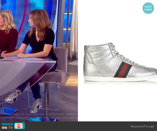 Bambi Glitter High-top Trainers by Gucci worn by Jedediah Bila on The View