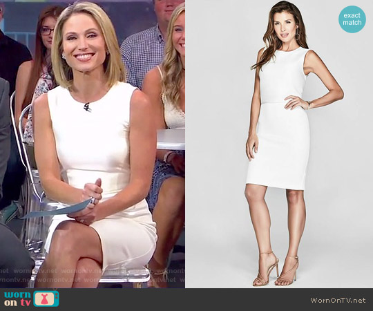 Collene Scuba Dress by Marciano by Guess worn by Amy Robach (Amy Robach) on Good Morning America