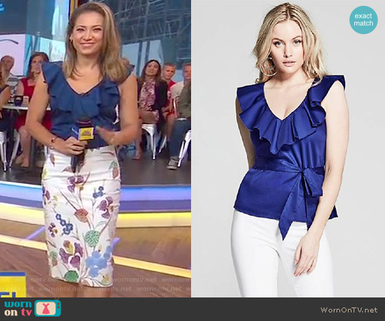 Sunny Top by Marciano by Guess worn by Ginger Zee  on Good Morning America