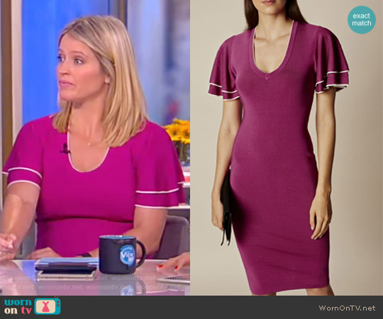 Knitted Midi Dress by Karen Millen worn by Sara Haines (Sara Haines) on The View