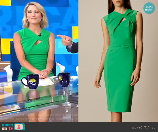 Knot Detail Pencil Dress by Karen Millen worn by Amy Robach on Good Morning America