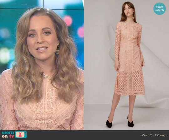 Bridges Lace Long Sleeve Dress by Keepsake worn by Carrie Bickmore on The Project