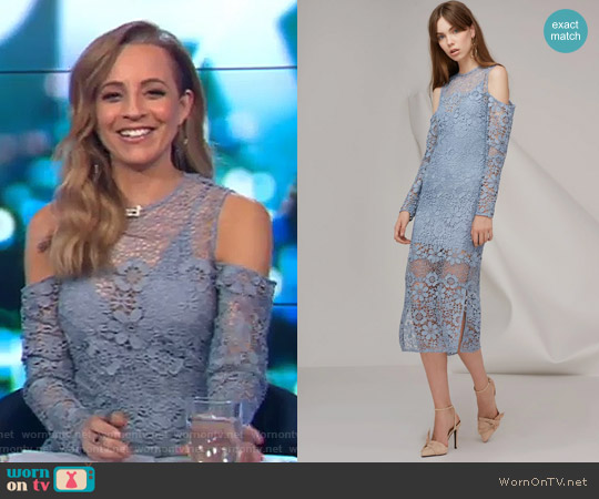Reach Out Long Sleeve Midi Dress by Keepsake worn by Carrie Bickmore  on The Project