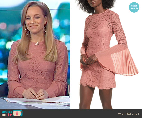 Be the One Minidress by Keepsake worn by Carrie Bickmore on The Project