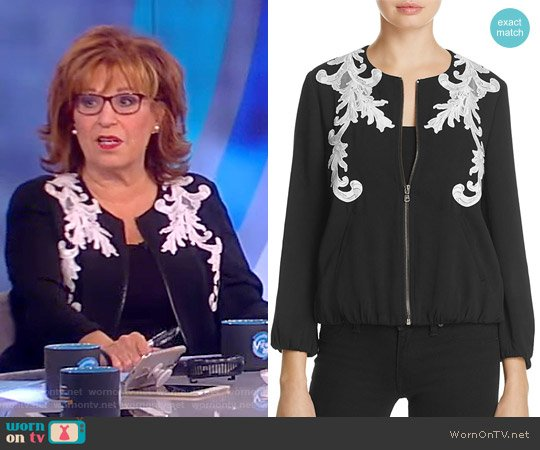 Embroidered Bomber Jacket by Kobi Halperin worn by Joy Behar on The View
