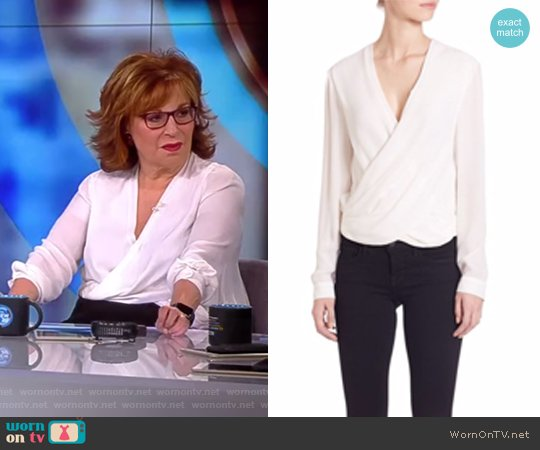 Silk Snap-Back Blouse by L'AGENCE worn by Joy Behar  on The View