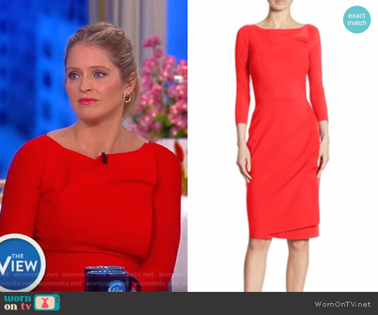 Rhea Wrap-Effect Sheath Dress by La Petite Robe di Chiara Boni worn by Sara Haines on The View
