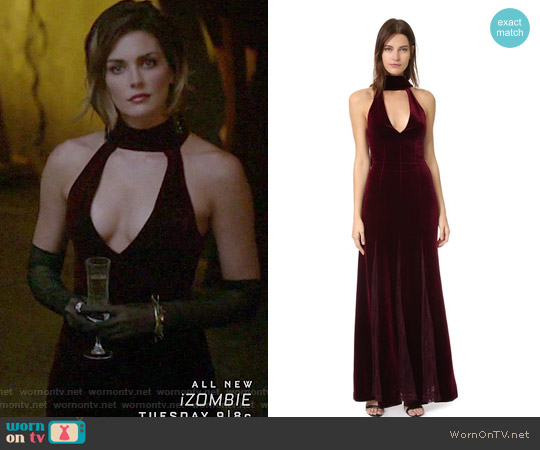 Lace Insert Gown by Nicholas worn by Taylor Cole on The Originals