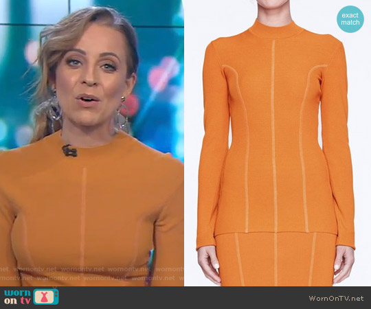 Long Sands Top by Life with Bird worn by Carrie Bickmore  on The Project