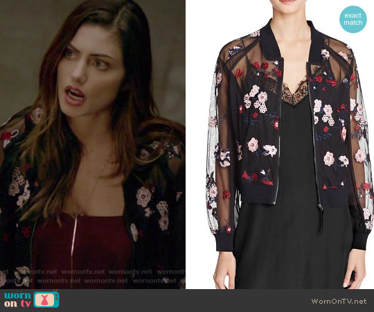 Embroidered Bomber Jacket by Lucy Paris worn by Hayley (Phoebe Tonkin) on The Originals