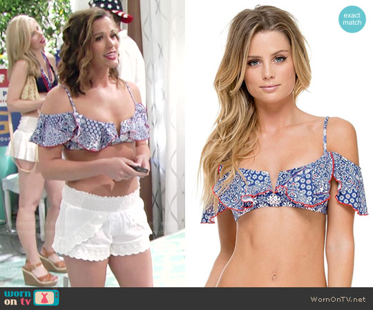 Luli Fama  Naughty Girl Ballet Bra Bikini Top worn by Chelsea Lawson (Melissa Claire Egan) on The Young & the Restless
