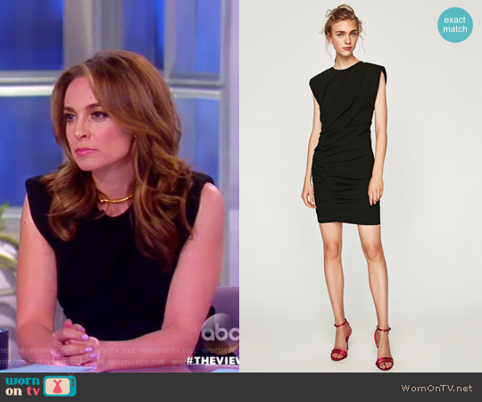 Mini Draped Dress by Zara worn by Jedediah Bila  on The View
