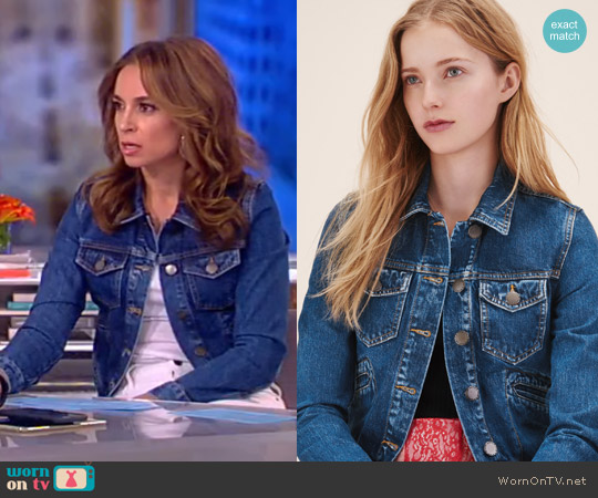 'Viva' Denim Jacket by Maje worn by Jedediah Bila on The View