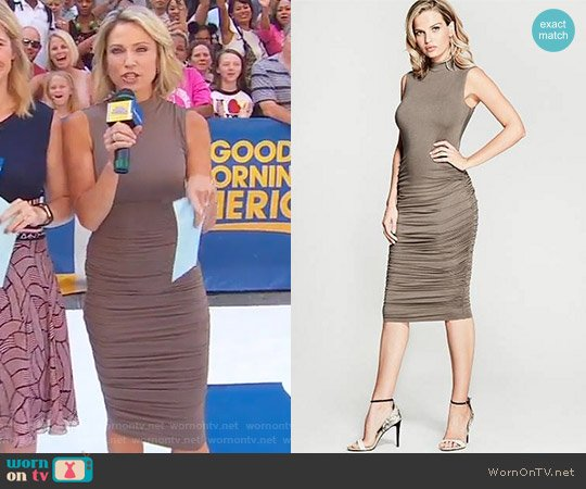 Adela Ruched Dress by Marciano by Guess worn by Amy Robach (Amy Robach) on Good Morning America