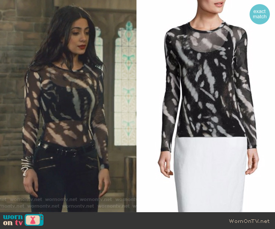 Helga Printed Top by Max Mara worn by Isabelle Lightwood (Emeraude Toubia ) on Shadowhunters