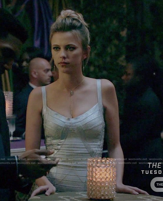 Freya's silver bandage dress on The Originals