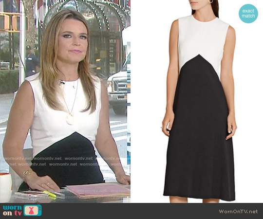 Two-Tone Textured Crepe Dress by Narciso Rodriguez worn by Savannah Guthrie  on Today