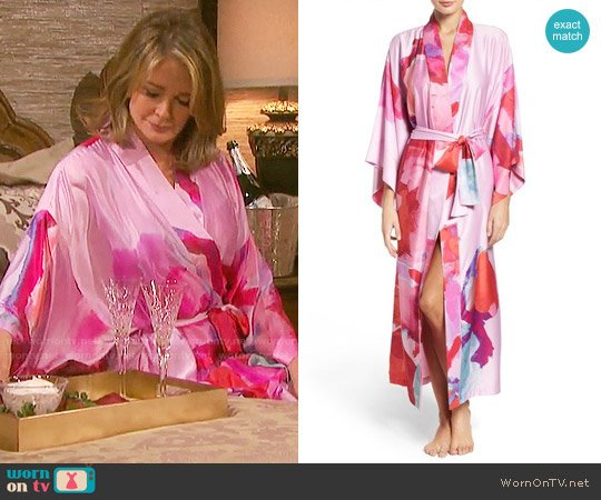 Natori Kimono Robe in Bright Lilac worn by Marlena Evans (Deidre Hall) on Days of our Lives