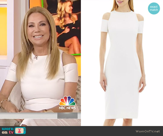 Cold-Shoulder Bodycon Dress by Nicole Miller worn by Kathie Lee Gifford on Today