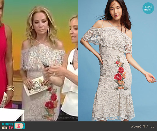 Gramercy Lace Trumpet Dress by Nicole Millar worn by Kathie Lee Gifford  on Today
