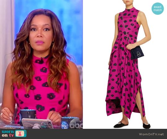 Embroidered Flared Dress by Proenza Schouler worn by Sunny Hostin on The View