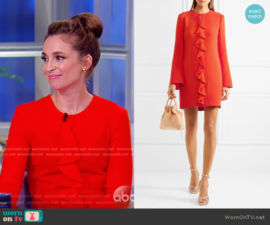 Monner Ruffled Stretch-Crepe Mini Dress by Rachel Zoe worn by Jedediah Bila on The View
