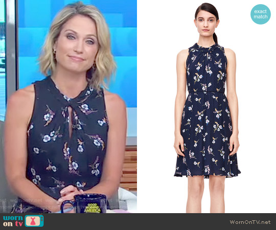 Natalie Fleur Dress by Rebecca Taylor worn by Amy Robach on Good Morning America