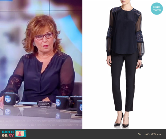 Silk Lace-Panel Top by Rebecca Taylor worn by Joy Behar on The View