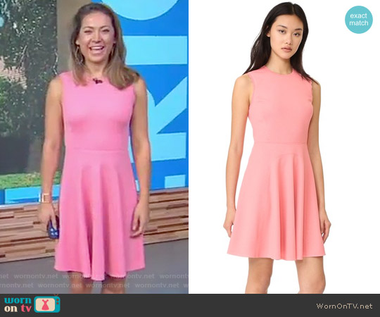 Sleeveless Textured Dress by Rebecca Taylor worn by Ginger Zee on Good Morning America