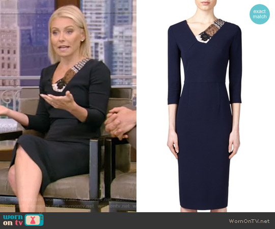 Rayner Dress by Roland Mouret worn by Kelly Ripa on Live with Kelly & Ryan