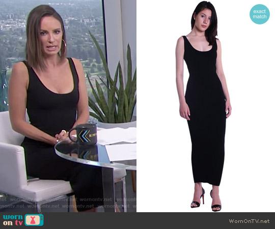 Zora Maxi Dress in Black by Ronny Kobo worn by Catt Sadler on E! News