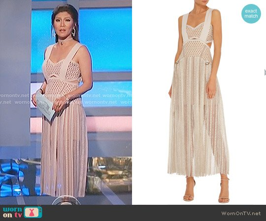 'Avery' Fringe Cutout Dress by Self Portrait worn by Julie Chen  on Big Brother