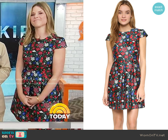 Paris Dress by Shoshanna worn by Jenna Bush Hager on Today