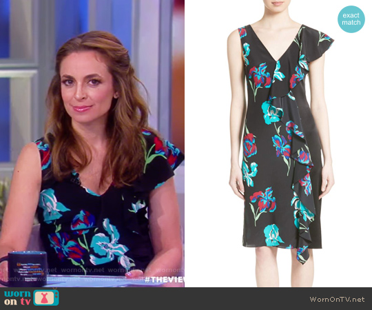 Silk Side Ruffle Sheath Dress by Diane von Furstenberg worn by Jedediah Bila on The View