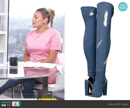 Tonic Boots by Steve Madden worn by Carissa Loethen Culiner on E! News