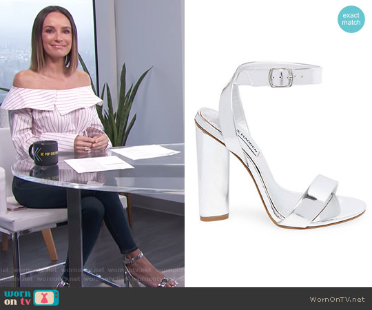 Treasure Sandals by Steve Madden worn by Catt Sadler on E! News
