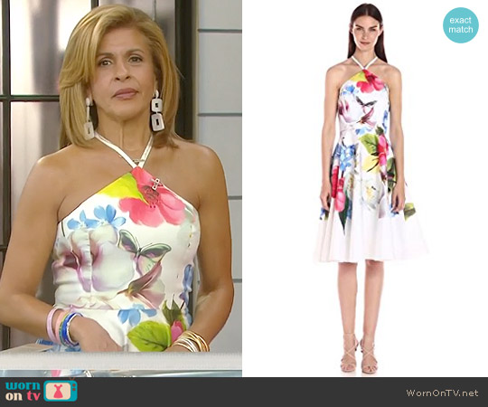 'Corpina' Floral Print Dress by Ted Baker worn by Hoda Kotb on Today