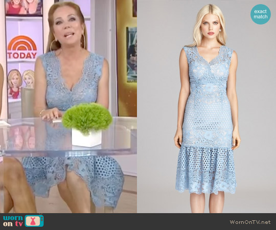 Circle Lace Sheath Dress with Flare Hem Teri Jon by Rickie Freeman worn by Kathie Lee Gifford  on Today